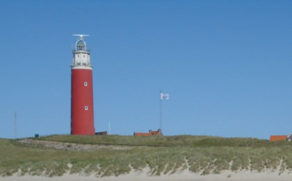 Lighthouse at Texel on the Dutch Coast