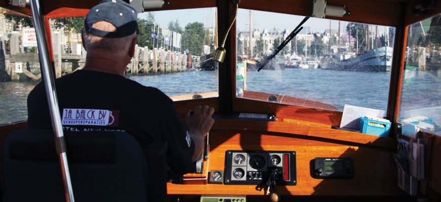 Water taxi in Rotterdam