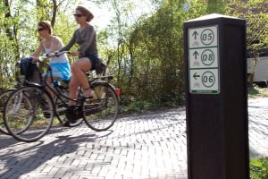 Cycling in northern Holland