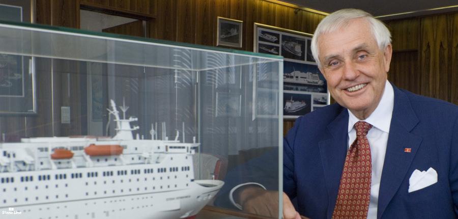 Sten Ollson, the man behind the Stena Sphere