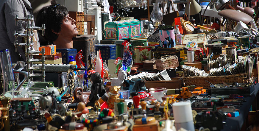 The streets of Amsterdam become on of the world's biggest flea markets