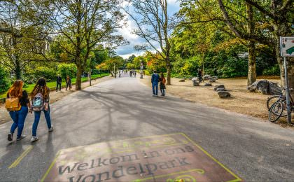 Take a wander around Vondelpark in Amsterdam city