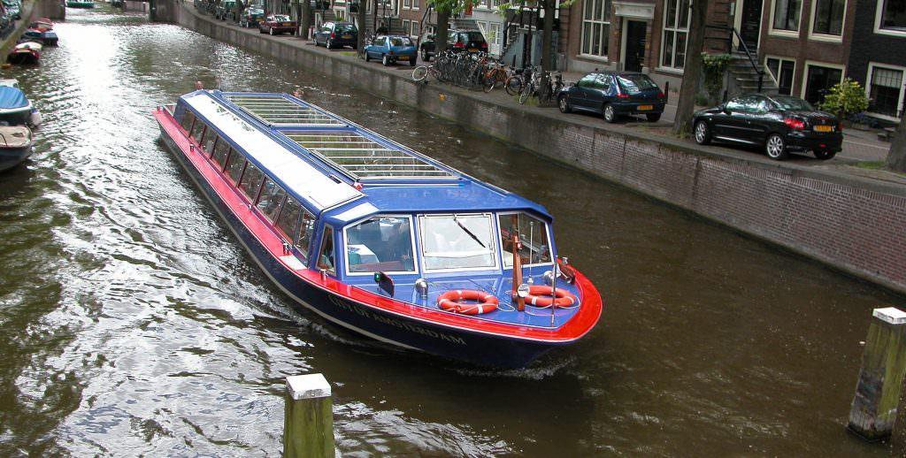 Take a boat trip down one of the canals in Amsterdam