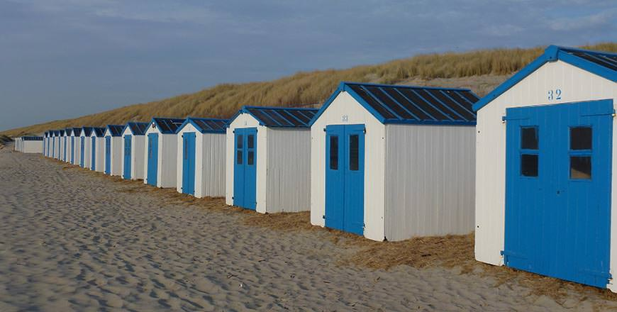 On Texel Islan you'll find deserted beaches